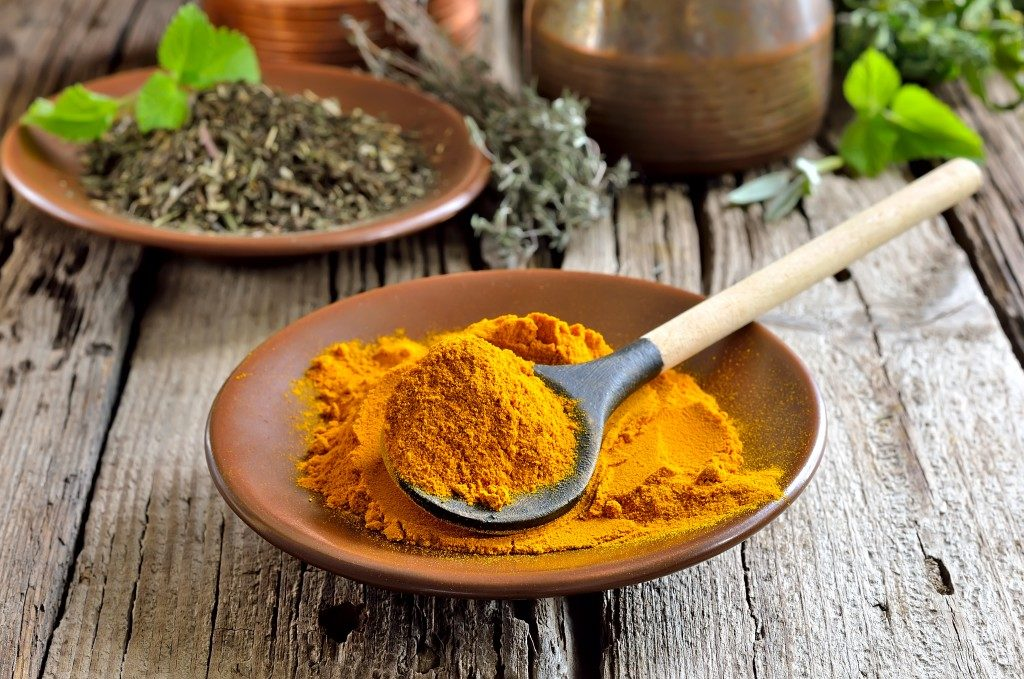 ground turmeric in a bowl
