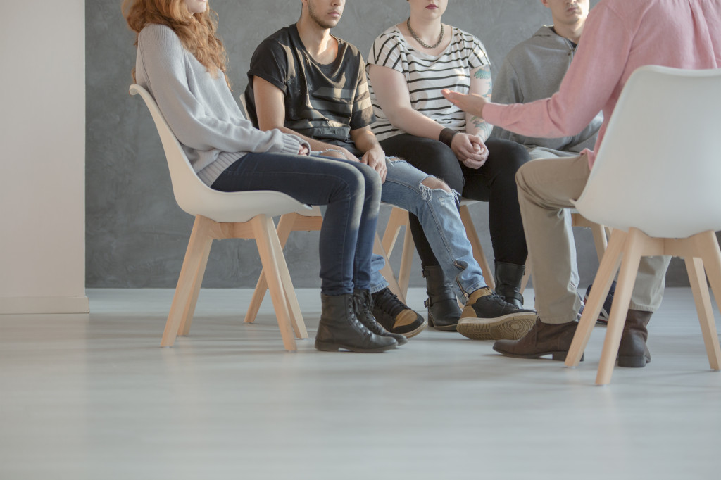 Group of people in therapy