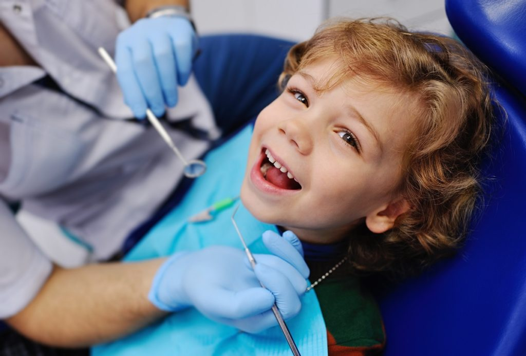 child in the dentist